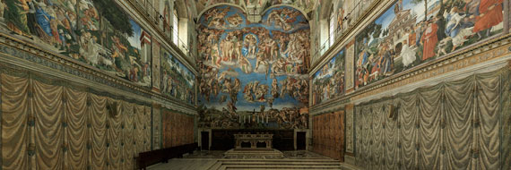 Snapshot of the Sistine Chapel Panorama