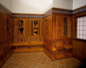 """Detail of """"Studiolo from the Ducal Palace in Gubbio"""" (1478–82)"""